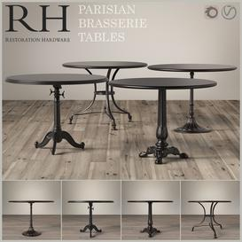 Parisian Brasserie Tables Restoration Hardware 3d model Download  Buy 3dbrute