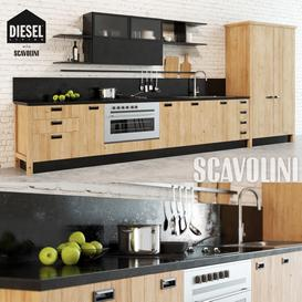 Scavolini Diesel Social Kitchen 3d model Download  Buy 3dbrute