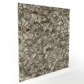 Stone wall 12 3d model Download  Buy 3dbrute