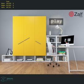 Wardrobe for kids  bedrooms 3d model Download  Buy 3dbrute