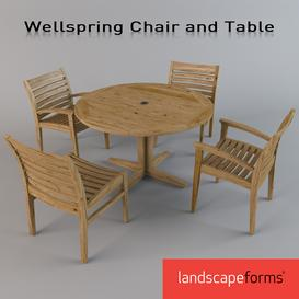 Wellspring Chair and Table 3d model Download  Buy 3dbrute