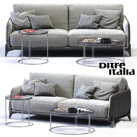 Ditre Italia ELLIOT 3-er Sofa 3d model Download  Buy 3dbrute
