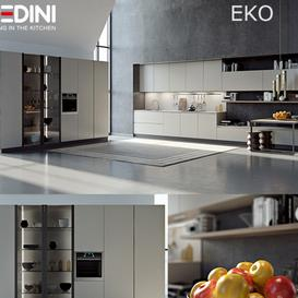Kitchen Pedini Eko set2 v-ray 3d model Download  Buy 3dbrute