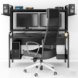 Computer set 3d model Download  Buy 3dbrute