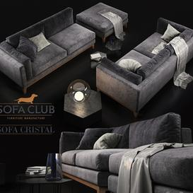 Sofa Cristal Sofa Club modular 3d model Download  Buy 3dbrute