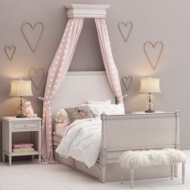 Bellina bedroom set- Restoration Hardware Baby and Child 3d model Download  Buy 3dbrute