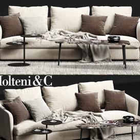 Molteni & C SLOANE Sofa 04 3d model Download  Buy 3dbrute