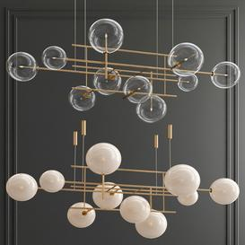 Bolle Galotti Orizzontale Suspension Chandelier 3d model Download  Buy 3dbrute