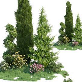Set for landscaping 4 LT 3d model Download  Buy 3dbrute