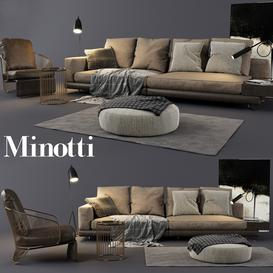 Minotti Set 03 3d model Download  Buy 3dbrute