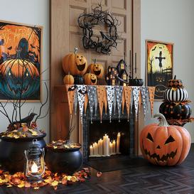 Halloween decor set 3d model Download  Buy 3dbrute