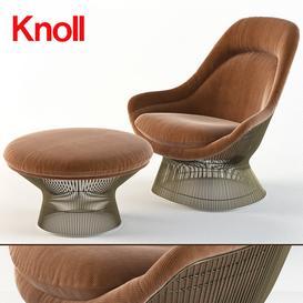 Warren Platner Easy Chair- Knoll- ottoman 3d model Download  Buy 3dbrute