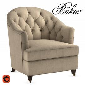 Baker Windsor Lounge Chair 3d model Download  Buy 3dbrute
