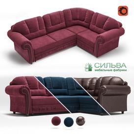 Corner sofa  Sofia  from the MF Silva LT 3d model Download  Buy 3dbrute