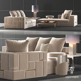 Visionnaire Babylon sofa set 3d model Download  Buy 3dbrute