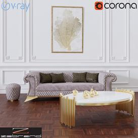 Zebrano Casa DIAMON Sofa 3d model Download  Buy 3dbrute