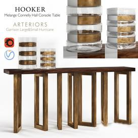 Hooker Melange Connelly Hall Console & Arteriors Garrison Hurricane LT 3d model Download  Buy 3dbrute