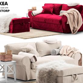 Sofa EKTORP Ikea   Sofa EKTORP Ikea LT 3d model Download  Buy 3dbrute