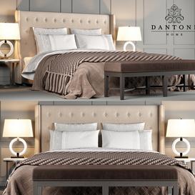 Dantone Home Bed Jarrow Buttons LT 3d model Download  Buy 3dbrute