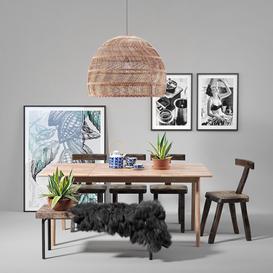 Scandinavian-set-003 3d model Download  Buy 3dbrute