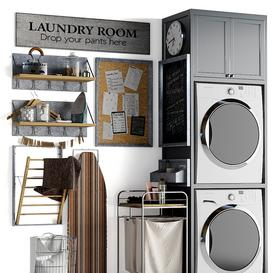 Laundry decor 3d model Download  Buy 3dbrute