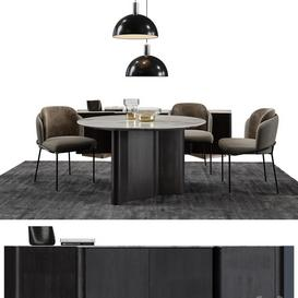 Minotti Set   Fil Noir LT 3d model Download  Buy 3dbrute