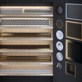 Ventilation grilles and diffusers 3d model Download  Buy 3dbrute