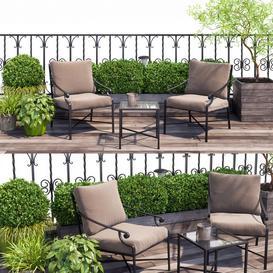 Terrace  balcony  penthouse 3d model Download  Buy 3dbrute