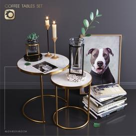 ZARA HOME-coffee tables set 3d model Download  Buy 3dbrute
