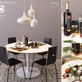 Ikea DINING GROUP set4 LT 3d model Download  Buy 3dbrute