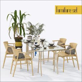 Furniture set LT 3d model Download  Buy 3dbrute