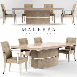 Table and chair malerba 3d model Download  Buy 3dbrute