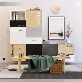 IKEA BESTA set 4 3d model Download  Buy 3dbrute