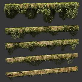 Leaves for beams- 5 models LT 3d model Download  Buy 3dbrute