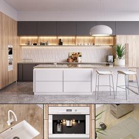 Kitchen Nolte Nature (vray GGX  corona PBR) LT 3d model Download  Buy 3dbrute