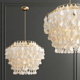 CB Capiz Chandelier 80 3d model Download  Buy 3dbrute