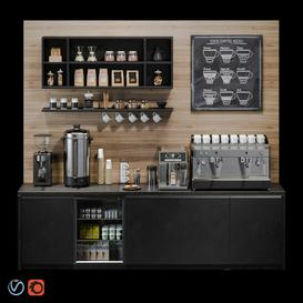 Coffee bar 3d model Download  Buy 3dbrute