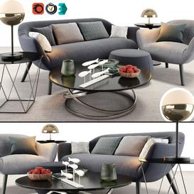 Poliform Mad Sofa Chair Set LT 3d model Download  Buy 3dbrute