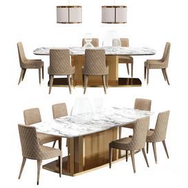 DV Home TABLE Set LT 3d model Download  Buy 3dbrute