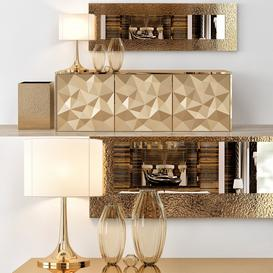 Fendi Console Table Home Collections 3d model Download  Buy 3dbrute