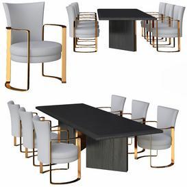 Fendi Dining Table 3d model Download  Buy 3dbrute