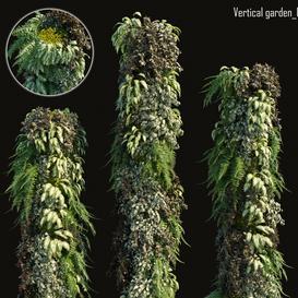 Vertical garden 03 LT 3d model Download  Buy 3dbrute
