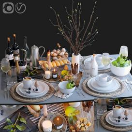 Table setting 29 3d model Download  Buy 3dbrute