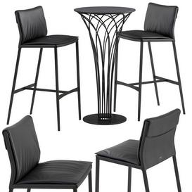Cattelan italia Isabel barstool Nido table set LT 3d model Download  Buy 3dbrute