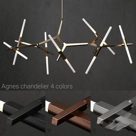 Chandelier Agnes 14 lights 4 colors LT 3d model Download  Buy 3dbrute