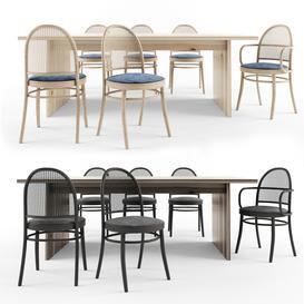 dinning table set 3d model Download  Buy 3dbrute