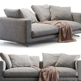 Flexform sofa CAMPIELLO 3d model Download  Buy 3dbrute