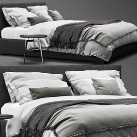 Meridiani Stone Plus Bed 3d model Download  Buy 3dbrute