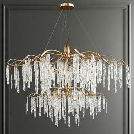 Willow Double Tear Chandelier 3d model Download  Buy 3dbrute