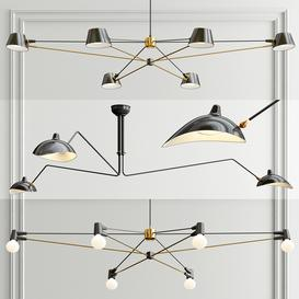 Minimalist Chandelier - 3 type 3d model Download  Buy 3dbrute